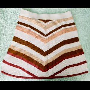 NWOT Free People What a Flirt Chevron Skirt
